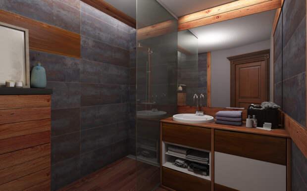 Оформление комнаты в темных тонах
