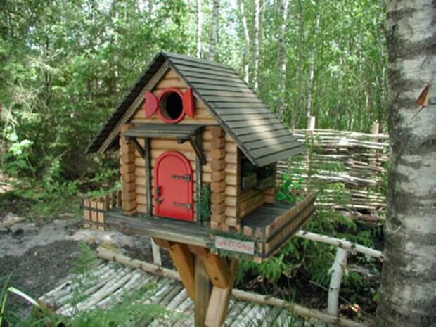 Креативные домики для птиц.