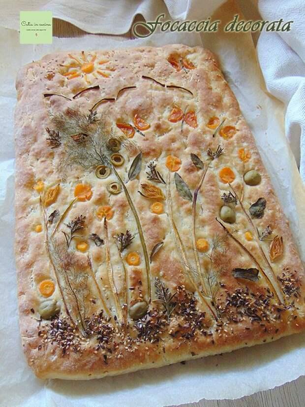 Фокачча с узорами: 20 примеров создания простого и очень эффектного хлеба