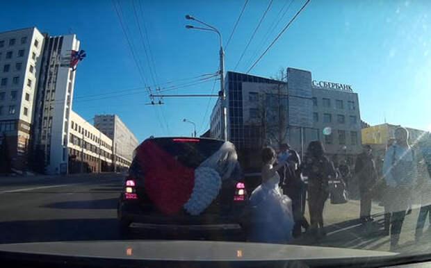 Эмоции на дороге: «веселая свадьба»