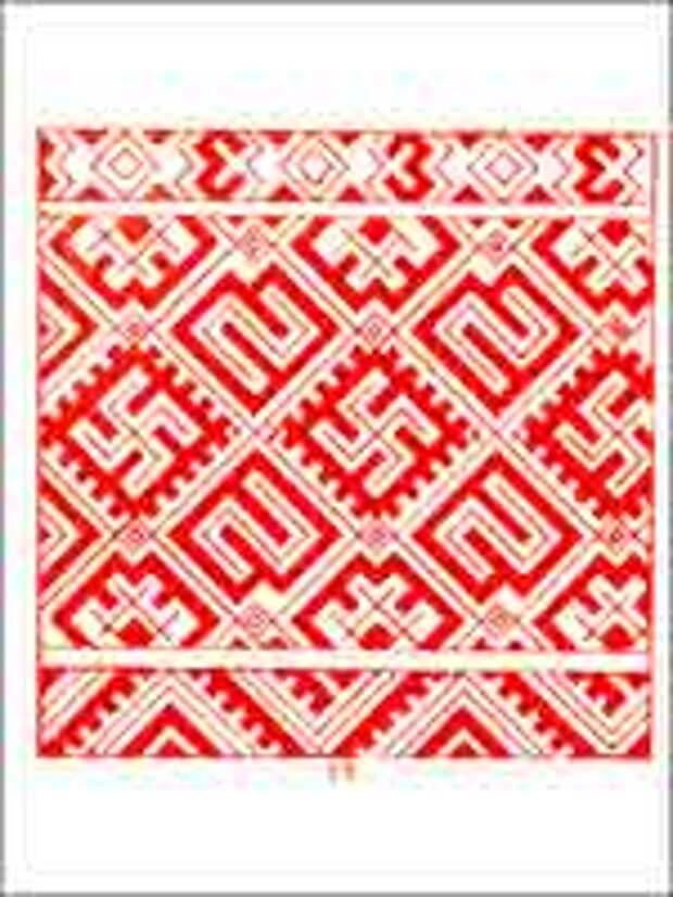 Сборник Стасова 1872 года. Кайма полотенца. Орловской губ.