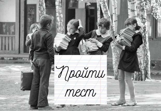 Тест. Сколько мемов вбито в тебя советской школой?