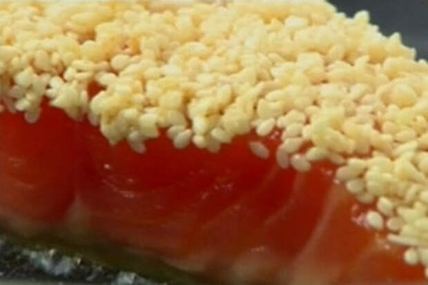 лосось с кунжутом