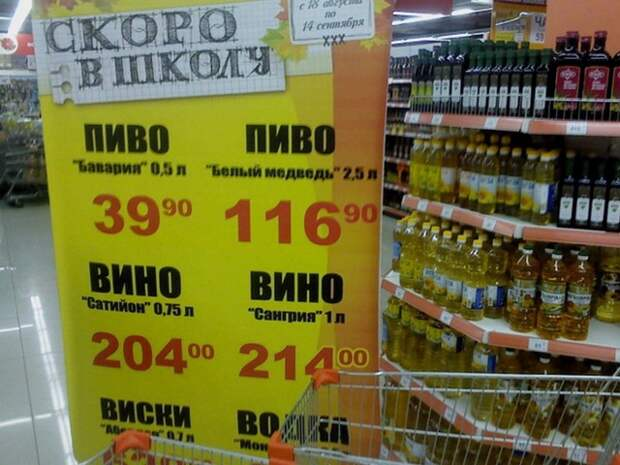 Прикольные вывески в супермаркетах