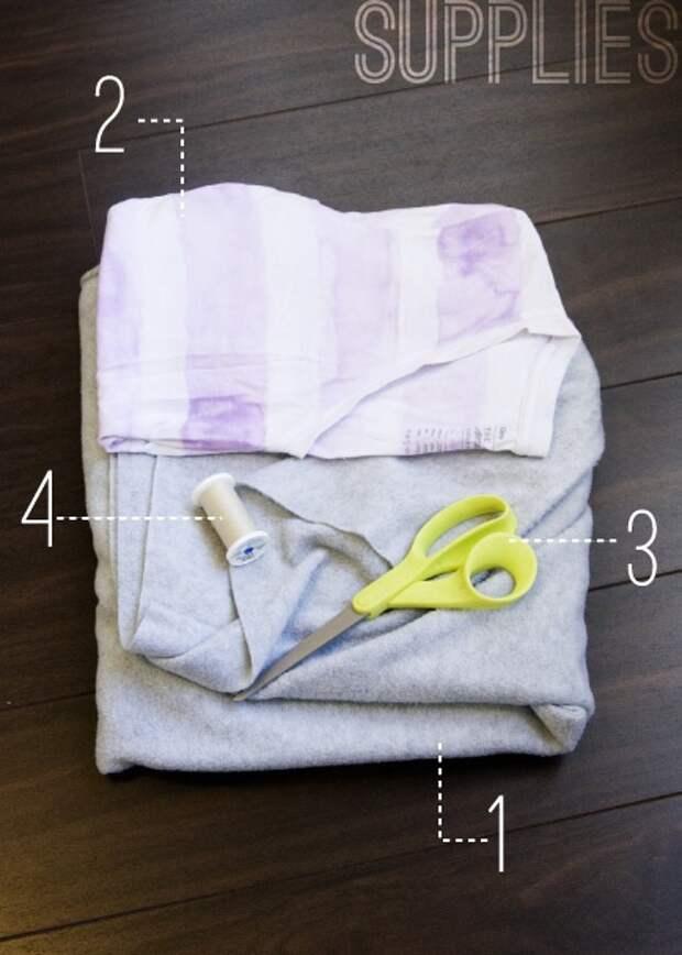 простая бесплатная выкройка туники футболки