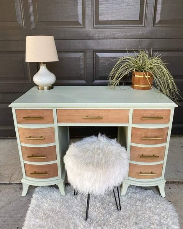 Как обычная краска преображает старую мебель: фото до и после