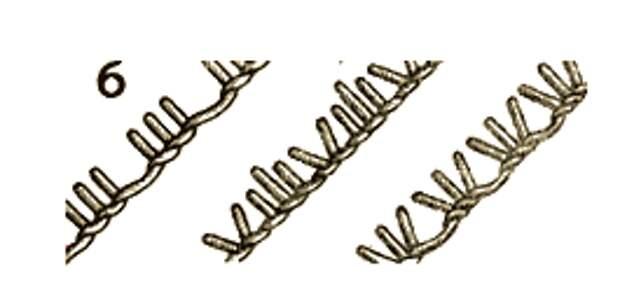 Разнообразные стежки петельного шва