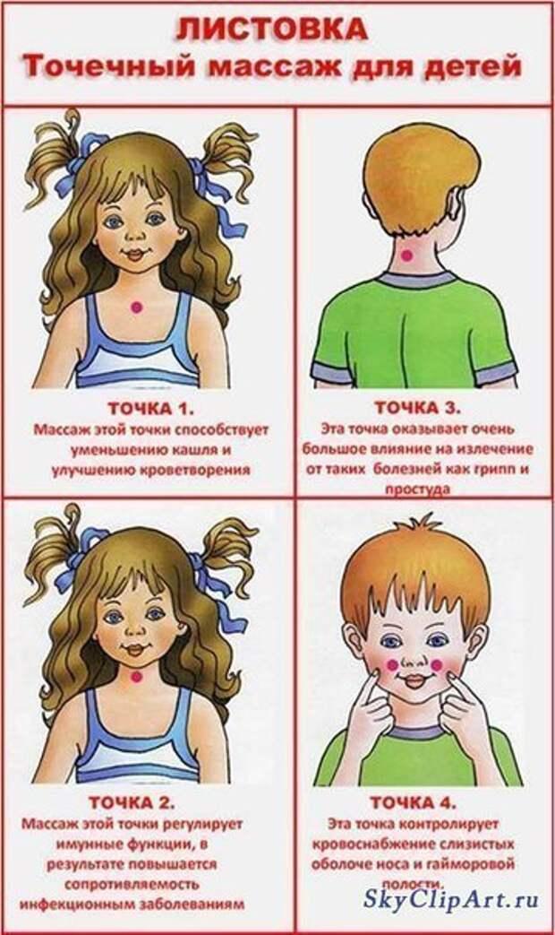 ЗДРАВОТДЕЛ. Точечный массаж для укрепления детского иммунитета