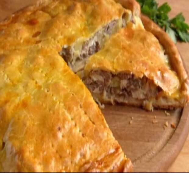 Пирог с малиной из слоеного теста — рецепт с фото пошагово