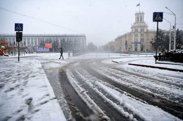 В Кемеровской области прошел первый снегопад