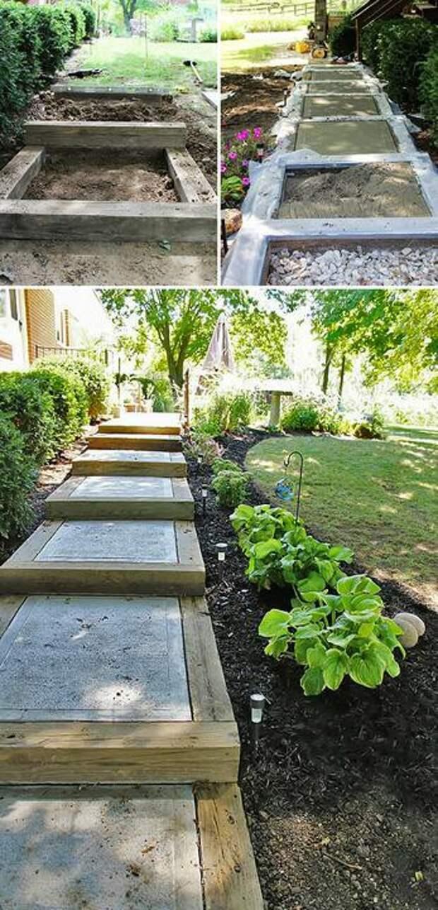 Как сделать ступеньки в саду в саду, ступеньки