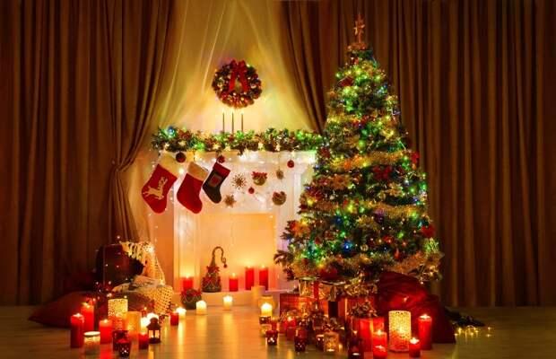 елка в Рождество