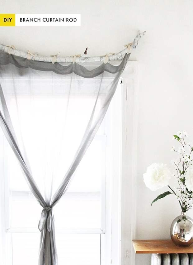 Необычные шторы из обычных (Diy)