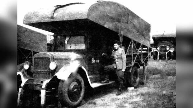Понтонный автомобиль «литер А-1» модернизированного парка Н2П-41 авто, автоистория, военная техника, история, переправа, понтон, понтонно-мостовая переправа