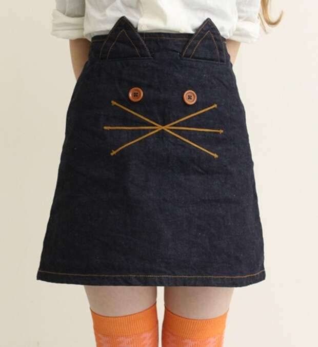 лаконичная юбка-кошка