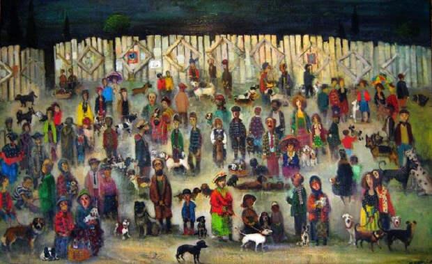 Картины грузинского художника Ладо Тевдорадзе.