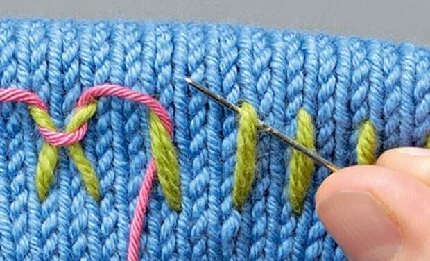 Вышивка полос на трикотаже