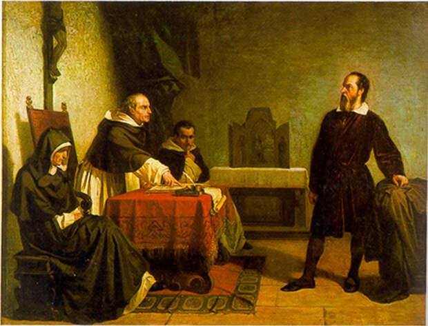 Галилей перед инквизицией. Кристиано Банти, 1857 год.jpg