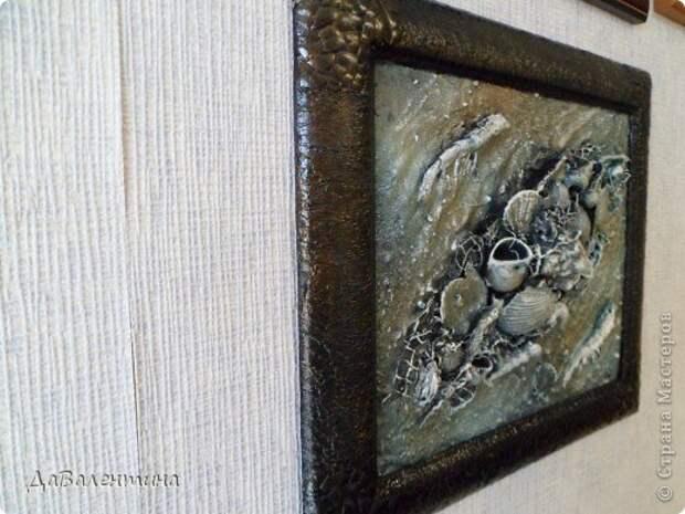 Картина панно рисунок Мастер-класс Коллаж Коллаж в технике терра Мастер-класс Морское дно с креветками Материал природный фото 19
