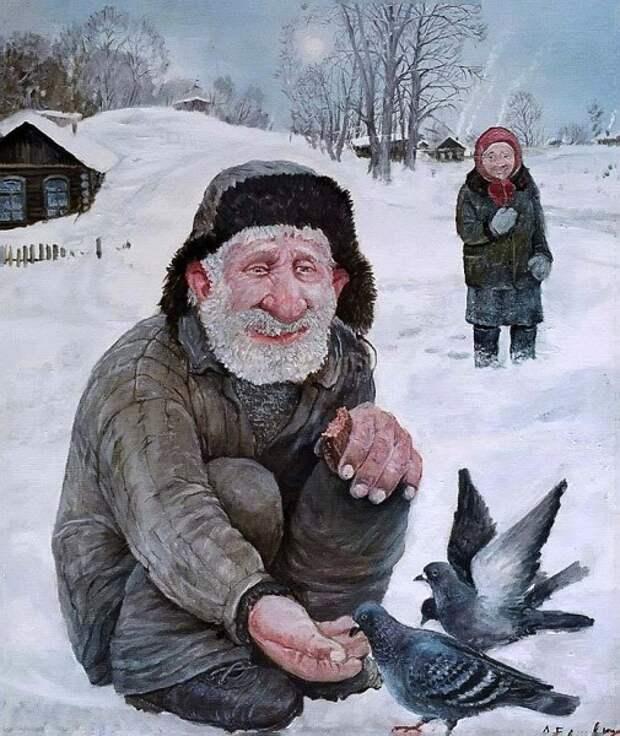 Зимние картины уральского художника