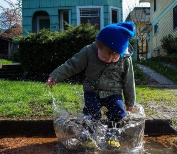 Повелитель стихии. дети, позитив, прогулка