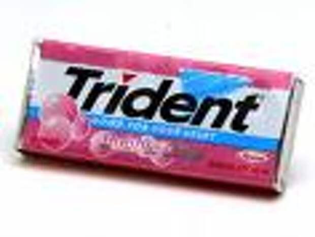 Trident: жвачка в процессе производства