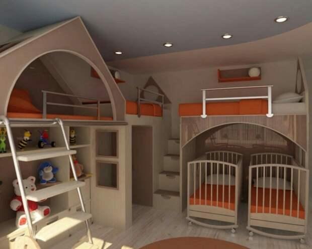 Спальни на шестерых (подборка)