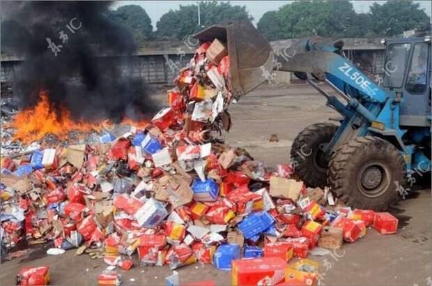 Зачем уничтожать продукты попавшие под санкции?