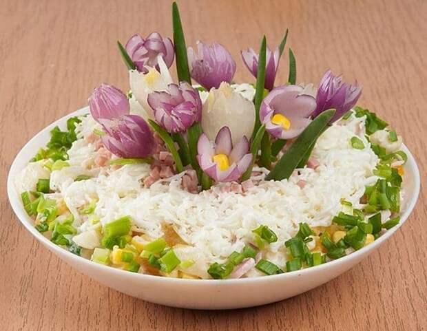 Весенний салат Крокусы