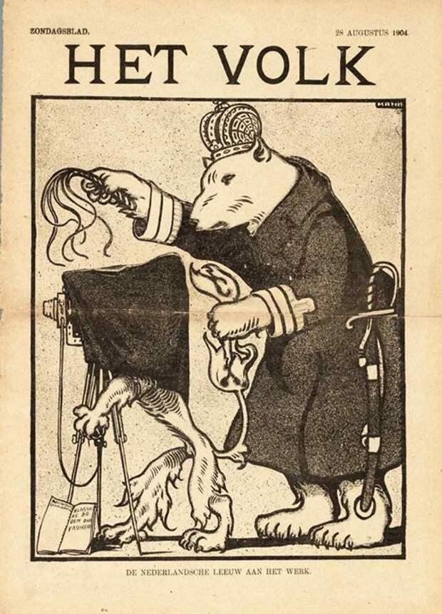 1904 Голландия медведь, россия