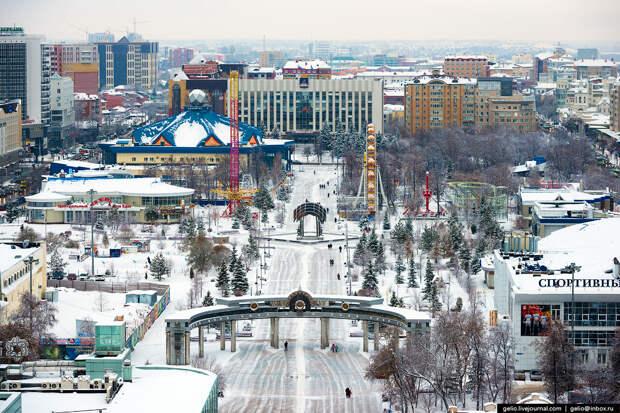 Зимняя Тюмень с высоты