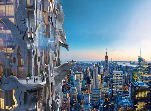 Небоскреб в центре Манхэттена, вдохновленный фэнтезийными фильмами