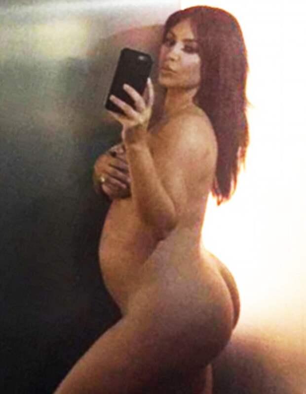 Обнаженная беременная Ким Кардашьян беременность, ким кардашян