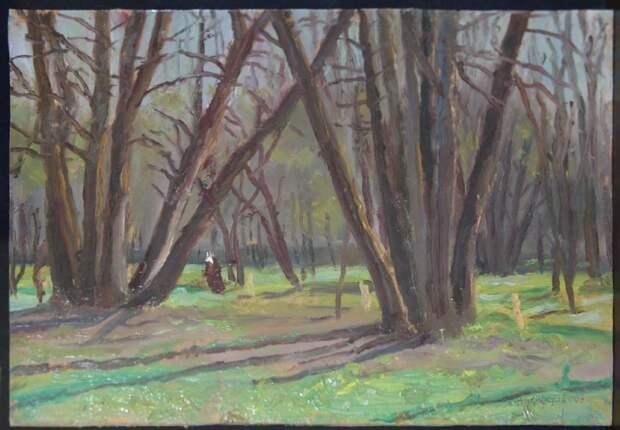 С.И. Никифоров. Липы на месте расстрелов (Бутовский полигон). 2002
