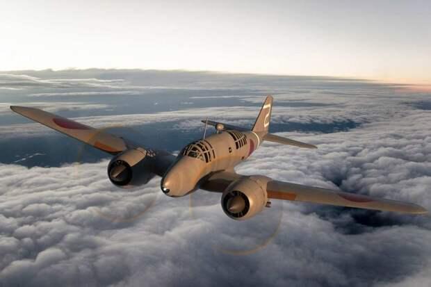 Ki-46 из 70-й отдельной разведывательной эскадрильи в небе северной Австралии. Компьютерная графика Майкла Кларингболда. abc.net.au - «Неистовые орлы» в стране кенгуру | Warspot.ru