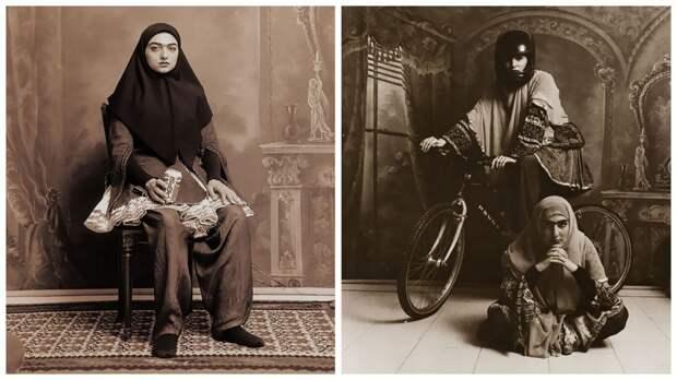 Фотопортреты иранских красавиц в стиле 19века