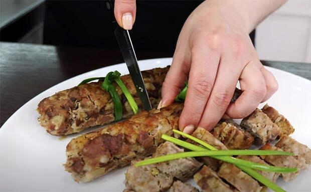 Домашняя колбаса в духовке: берем фарш и делаем без оболочки