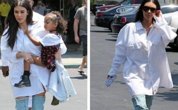 Ким Кардашьян вышла на улицу без штанов