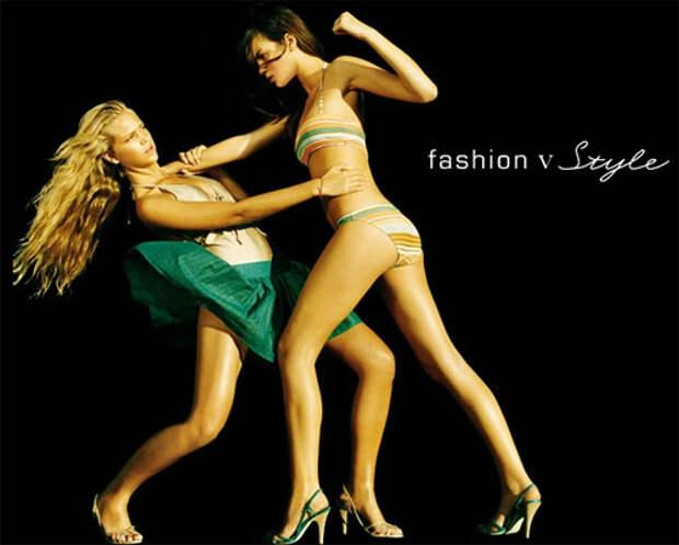 Супер-модели дерутся из-за одежды