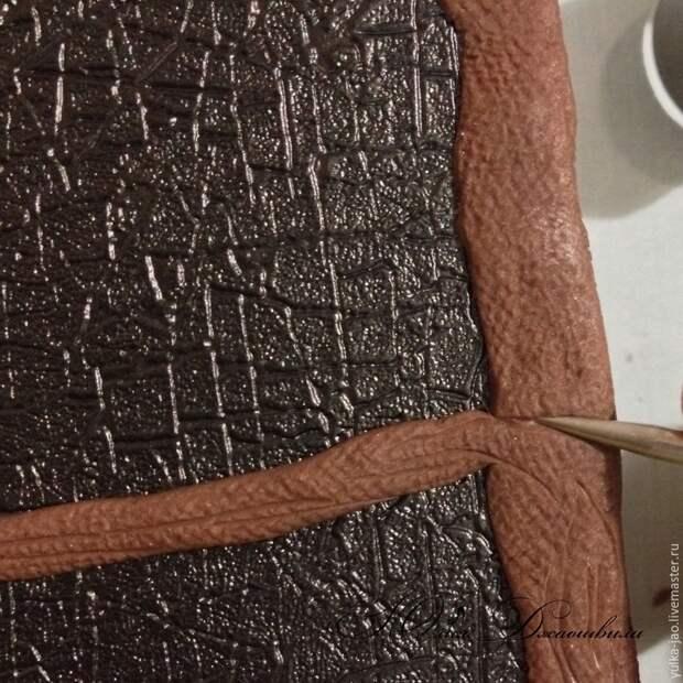 Декорируем обложку блокнота с помощью полимерной глины. Мастер-класс
