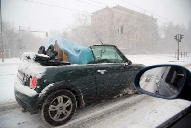 9 курьезных снимков о казусах, которые возможны только зимой