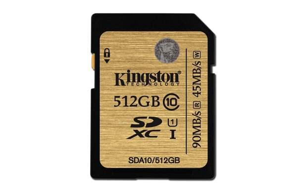 Kingston выпускает карту памяти ёмкостью 512ГБ