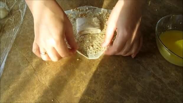 """Марокканские булочки с арахисом """"1000 и 1 слой"""" Выпечка, Булочки, Вкусно, Готовим дома, Рецепт, Длиннопост, Другая кухня, Видео рецепт, Слоеное тесто, Видео"""