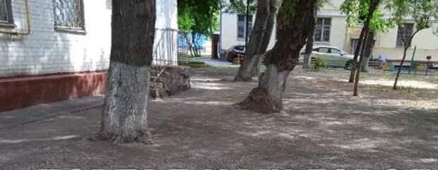 Строительный хлам выкинули со двора дома на Душинской