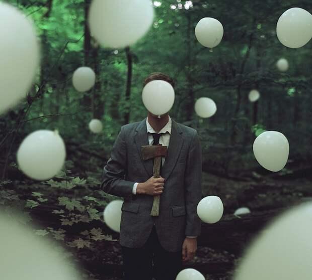 Сюрреалистические автопортреты Kyle Thompson