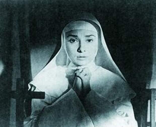 Одри Хепбёрн в роли сестры Люк в Истории монахини Фреда Циннемана. 1958