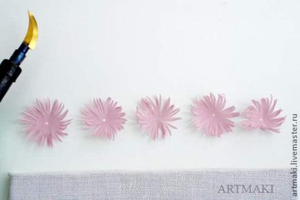 Цветы из ткани. Клематис. Мастер-класс