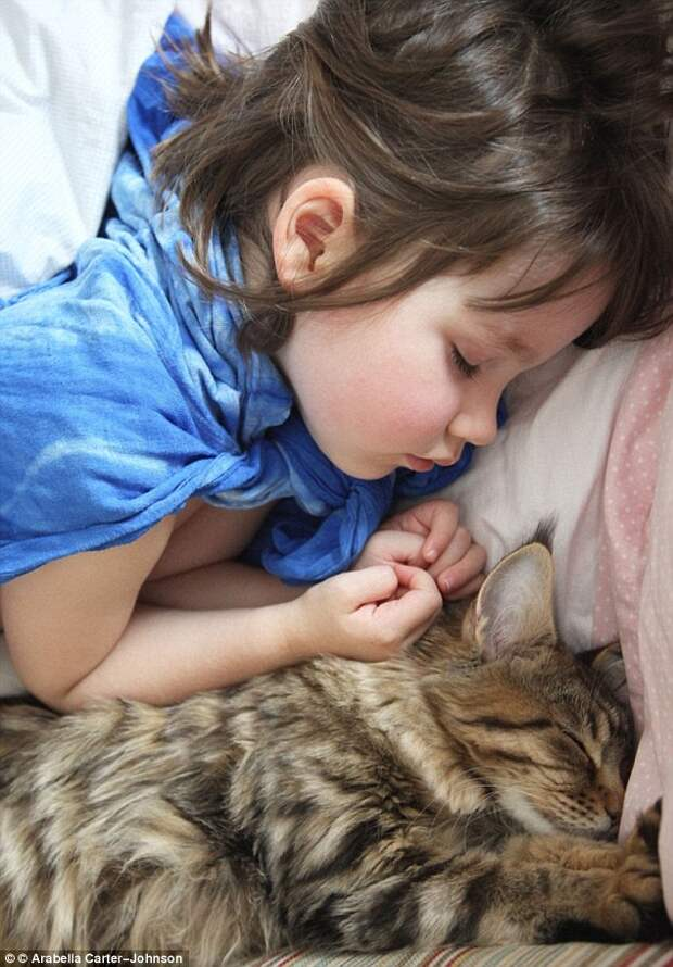 Девочка-аутистка и кошка