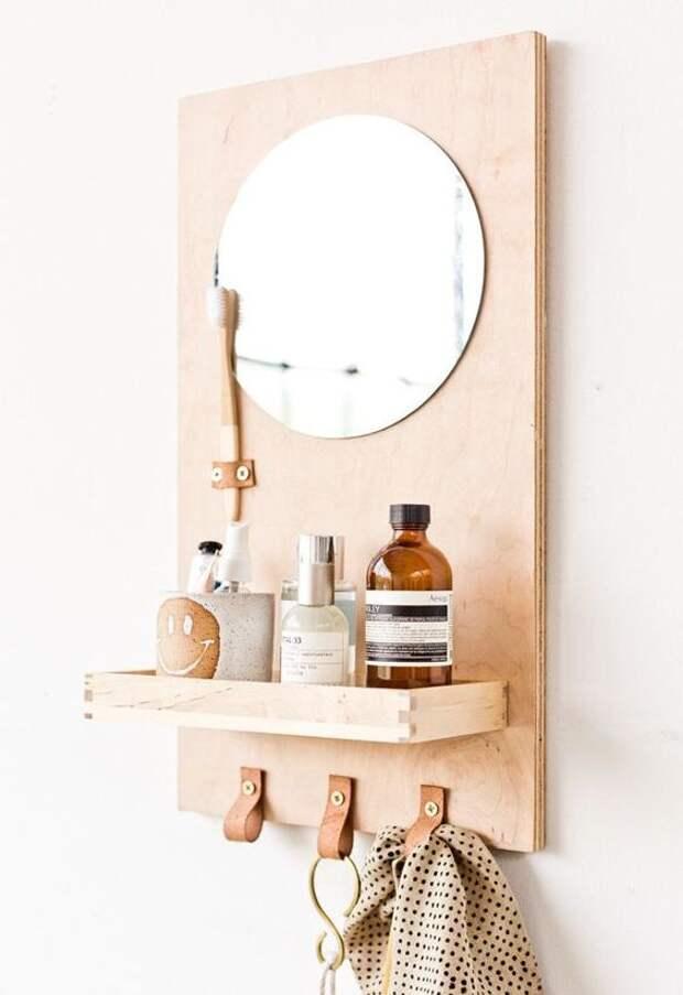Зеркало органайзер в ванной комнате (Diy)