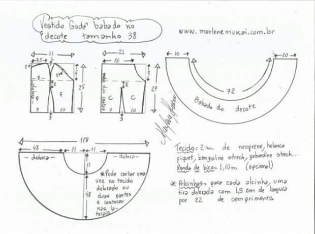 Выкройки летнего сарафана с оборкой (9 размеров)